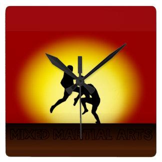 "MMA - ""Flying Knee Sunset"" Wall Clock"