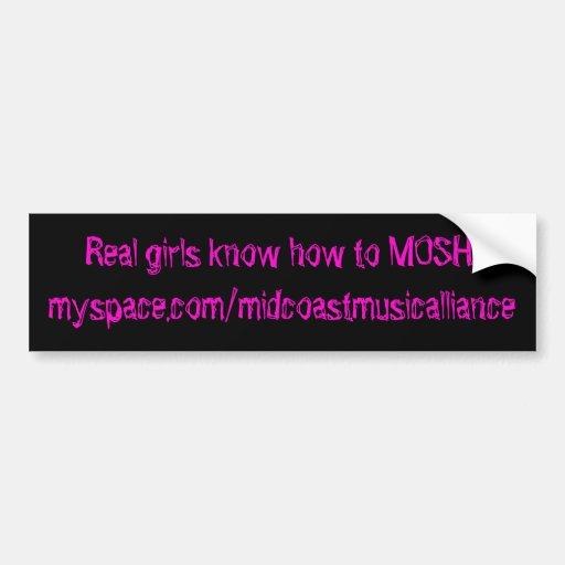 MMA Girls Mosh bumper sticker Car Bumper Sticker