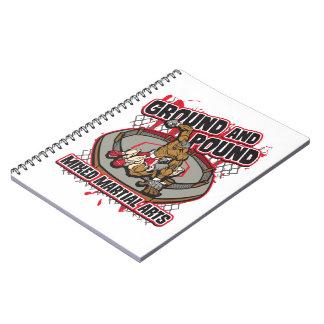 MMA Ground and Pound Spiral Notebook