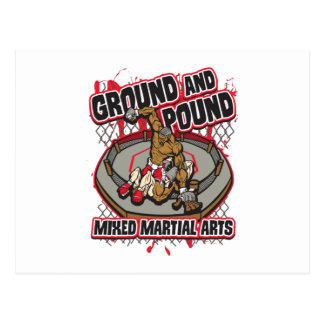 MMA Ground and Pound Postcard