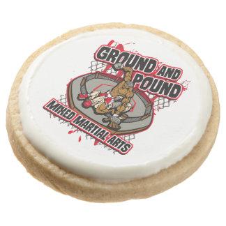 MMA Ground and Pound Round Shortbread Cookie