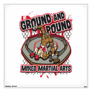 MMA Ground and Pound Wall Sticker