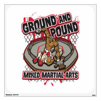 MMA Ground and Pound Wall Sticker