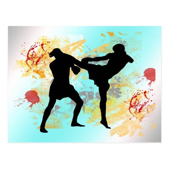 MMA Head Kick Postcard
