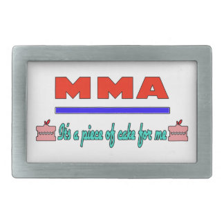 MMA It's a piece of cake for me Rectangular Belt Buckles