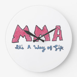 MMA It's a Way of Life Large Clock