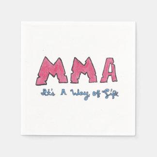 MMA It's a Way of Life Napkin