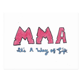 MMA It's a Way of Life Postcard