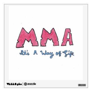 MMA It's a Way of Life Wall Sticker