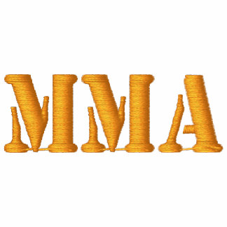 """""""MMA"""" MIXED MARTIAL ARTS EMBROIDERED - Customized Embroidered Hoodie"""