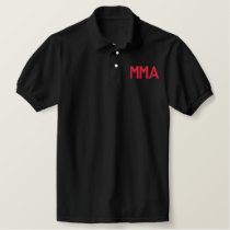 """MMA"" MIXED MARTIAL ARTS EMBROIDERED EMBROIDERED POLO SHIRT"