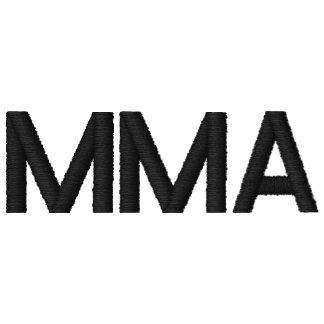 """""""MMA"""" MIXED MARTIAL ARTS EMBROIDERED EMBROIDERED SHIRT"""