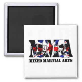 MMA Mixed Martial Arts UK Skulls 2 Inch Square Magnet