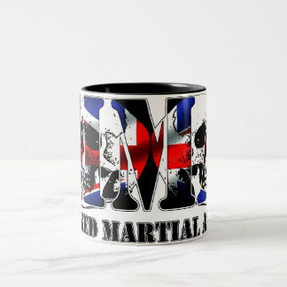 MMA Mixed Martial Arts UK Skulls Two-Tone Coffee Mug