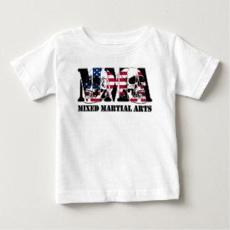 MMA Mixed Martial Arts USA Flag & Skulls Baby T-Shirt