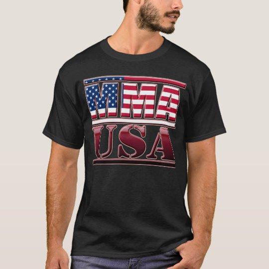 MMA Mixed Martial Arts USA Flag T-Shirt