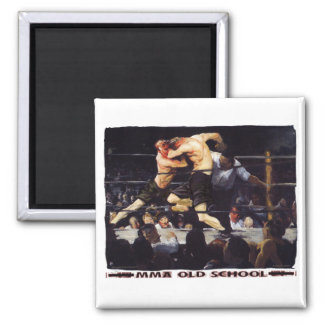 MMA Old School 2 Inch Square Magnet