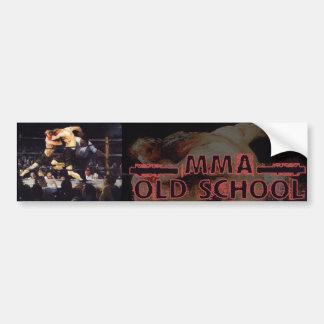 MMA Old School Car Bumper Sticker