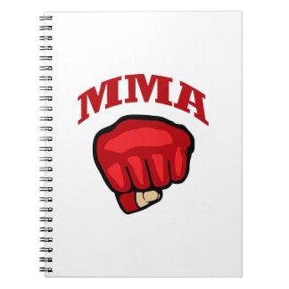 MMA OVER FIST NOTE BOOKS