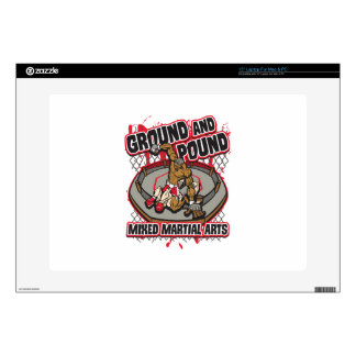 "MMA Pound and Ground 15"" Laptop Decal"