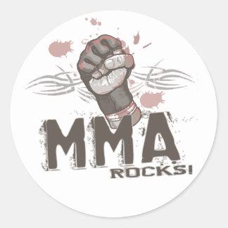 MMA Rocks Classic Round Sticker