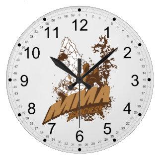 MMA Rocks Large Clock