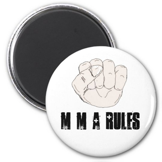 MMA Rules Magnet