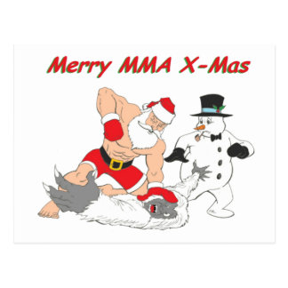 MMA Santa Post Card