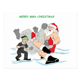 MMA Santa vs SnowMonster Post Card