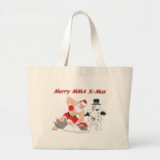 MMA Santa vs The Yeti Snow Monster Tote Bag
