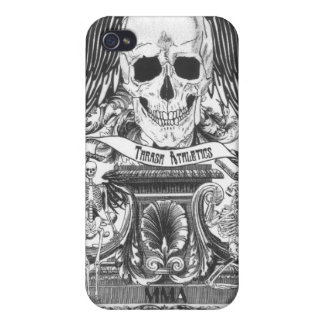 MMA Skull with wings Cases For iPhone 4