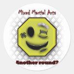 MMA Smile, Another round? Round Sticker