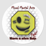 MMA Smile, Have a NIce Day/Fight Classic Round Sticker
