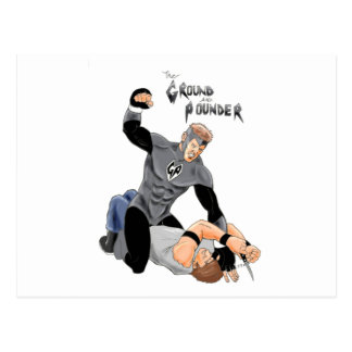 "MMA Supehero "" The Ground and Pounder"" Postcard"