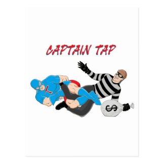 "MMA Superhero ""Captain Tap"" Postcard"