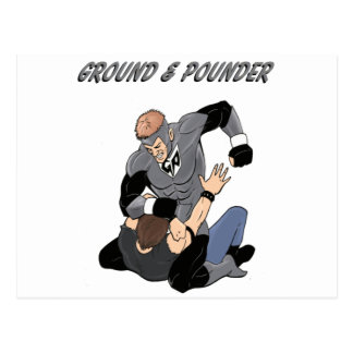 MMA Superhero The Ground and Pounder Postcard