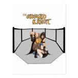 "MMA Superhero ""The Ground Knight"" Postcard"