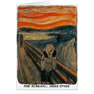 MMA The Ultimate Scream Card
