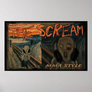 MMA The Ultimate Scream Poster