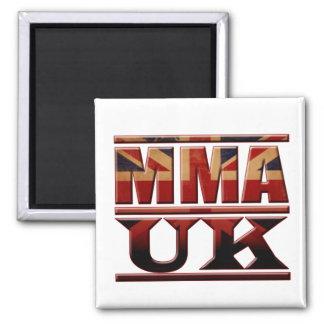 MMA United Kingdom UK  Flag 2 Inch Square Magnet