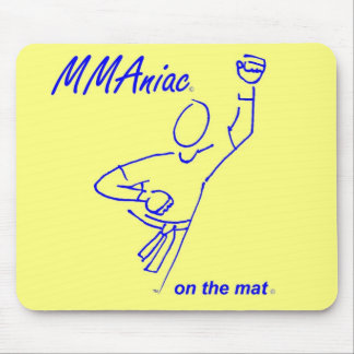 MMAniac on the Mat Yellow Mouse Pad