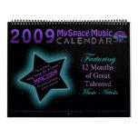 MMC 2009 MYSPACE MUSIC CALENDAR - Original Front