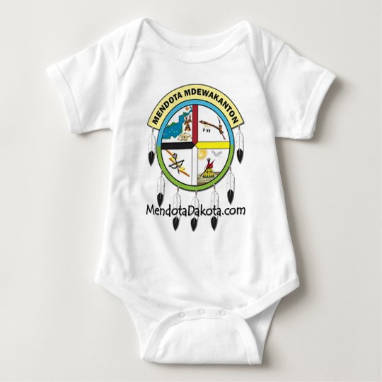 MMDC logo with website Baby Bodysuit