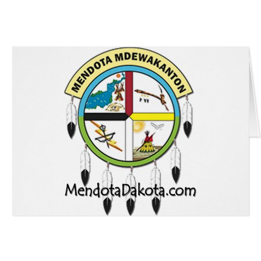 MMDC Mendota Dakota Logo and Webs Greeting Card