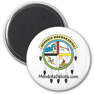 MMDC Mendota Dakota Logo and Webs 2 Inch Round Magnet