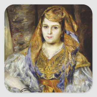 Mme. Clementine Stora en vestido argelino Pegatina Cuadrada