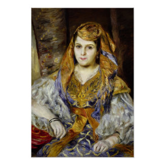 Mme. Clementine Stora en vestido argelino Póster