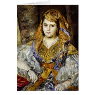 Mme. Clementine Stora en vestido argelino Tarjeta De Felicitación