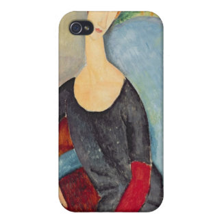 Mme Hebuterne in a Blue Chair, 1918 iPhone 4/4S Cover