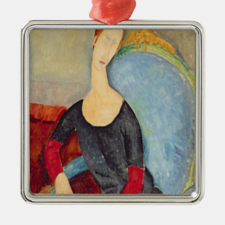 Mme Hebuterne in a Blue Chair, 1918 Metal Ornament